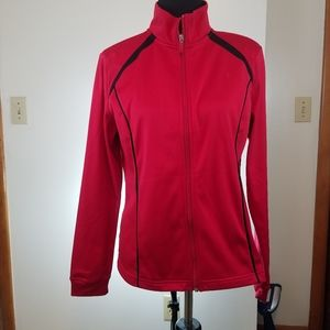 Danskin Now Jacket, Red, Size Large (12-14)